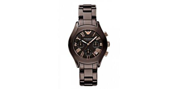 Dámské hodinky Emporio Armani z černé keramiky