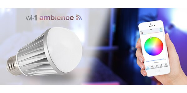 Chytrá LED žárovka wifi Ambience