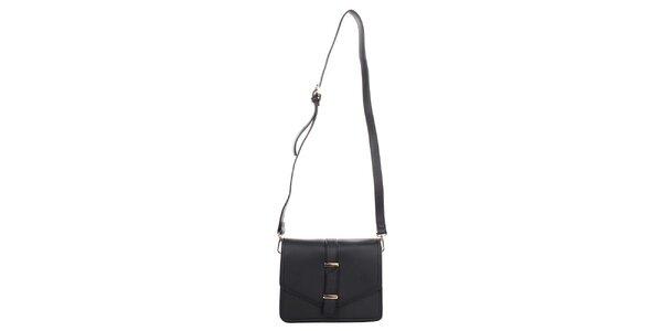 Dámská černá kabelka s klopou Caro Paris