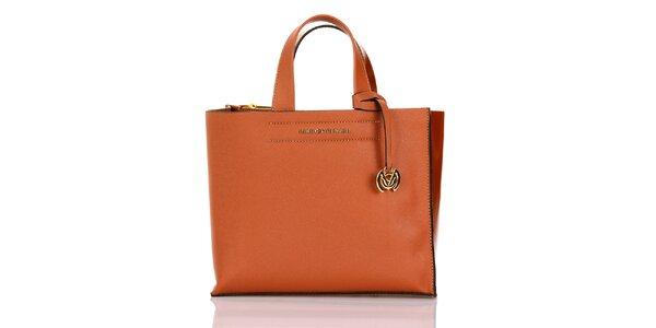 Dámská oranžová kabelka s přívěskem Giorgio di Mare