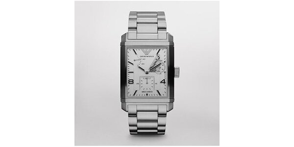 Pánské hodinky Emporio Armani z kartáčované oceli