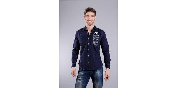 Pánská tmavě modrá košile Giorgio di Mare