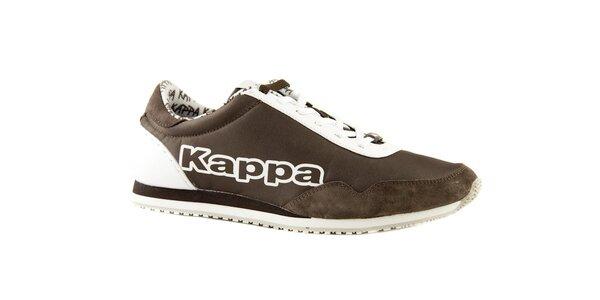 Hnědo-bílé tenisky Kappa Spezial