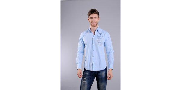 Pánská světle modrá košile Giorgio di Mare
