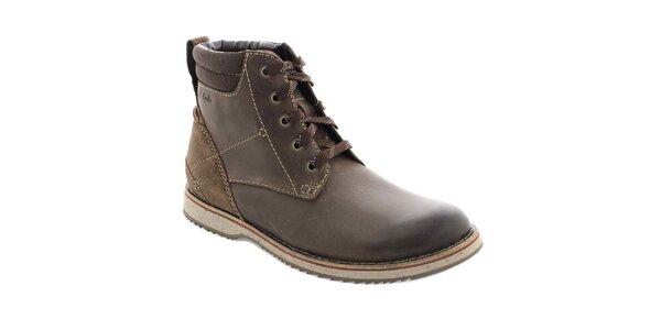 Pánské hnědé kotníkové boty Clarks