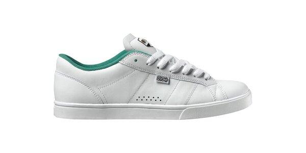 Pánské bílé kožené tenisky DVS