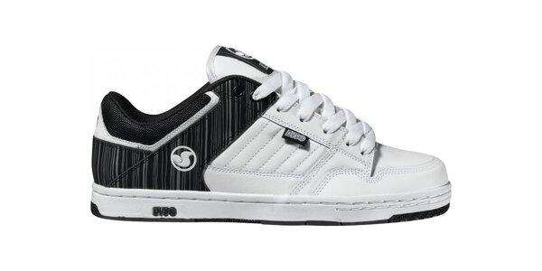 Pánské černo-bílé kožené tenisky DVS