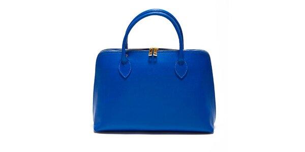 Dámská modrá kabelka z kvalitní kůže Renata Corsi