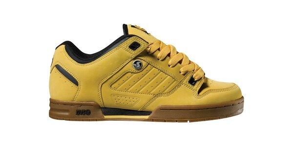 Pánské žlutohnědé kožené tenisky DVS