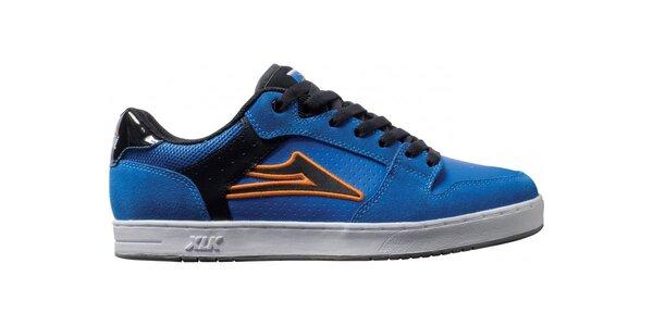 Pánské modré semišové tenisky Lakai s černými pruhy