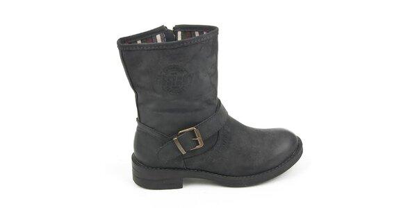 Dámské černé boty s přezkou Destroy