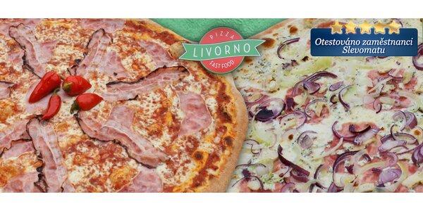 Obří 45cm pizza z Pizza Livorno s sebou do krabice