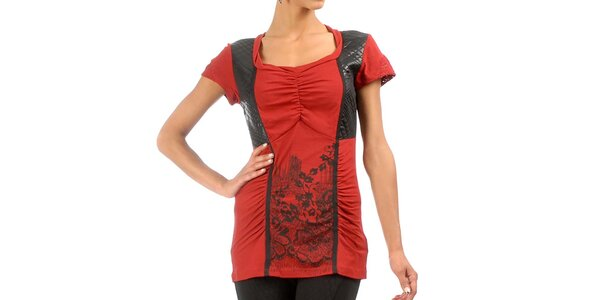 Dámské červené triko s krátkým rukávem Angels Never Die