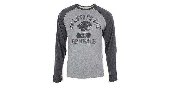 Pánské bavlněné šedé tričko Timeout