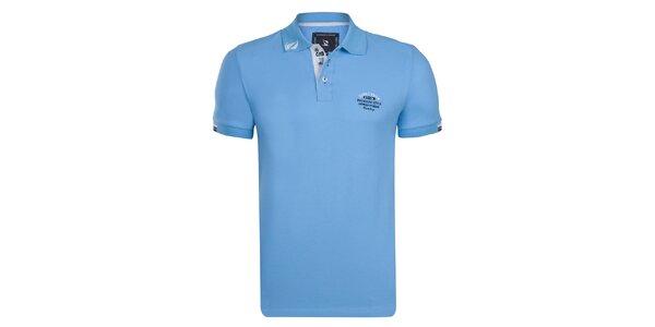 Pánské tyrkysové polo tričko Girogio Di Mare