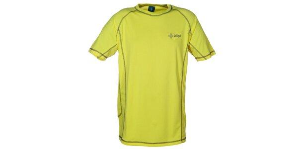 Pánské žlutozelené funkční tričko s kontrastními švy Kilpi