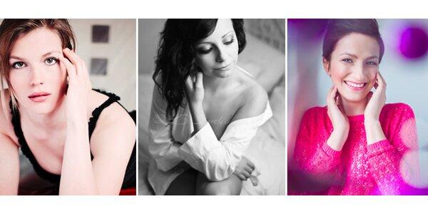 Glamour - Boudoir fotografování v ateliéru