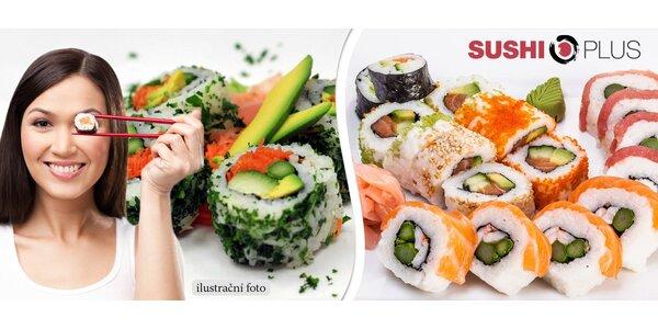 22 ks sushi s sebou ze Sushi Plus
