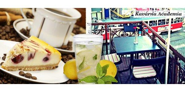 Mlsání a kávy pro dva v kavárně Academia