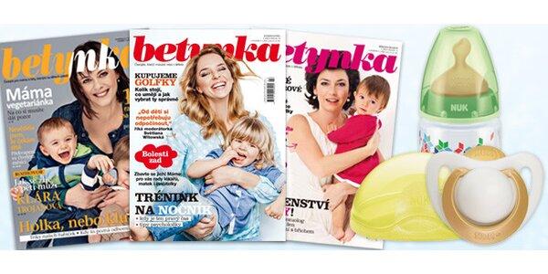 Roční předplatné časopisu Betynka s dárečkem