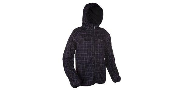 Pánská černá softshellová bunda se vzorem Kilpi