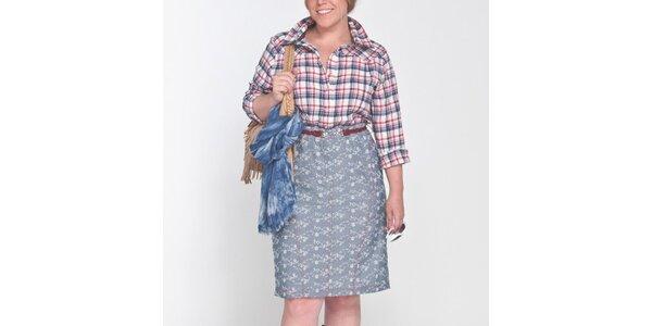 Dámské košilové vzorované šaty Coquette