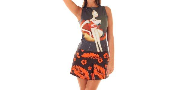 Dámské šaty s květinami a dívkou Custo Barcelona