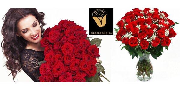 1 až 101 čerstvých růží – objednávky nonstop