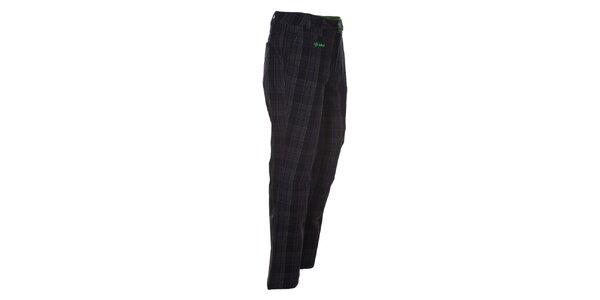 Pánské černé kalhoty se zelenými detaily Kilpi