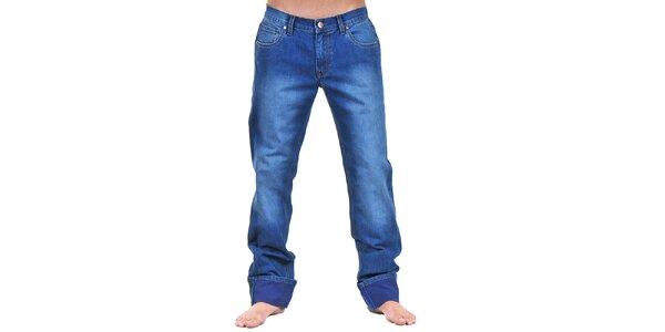 Pánské modré džíny s šisováním Giorgio di Mare