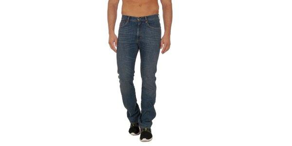 Pánské modré slim fit kalhoty Marlboro Classics
