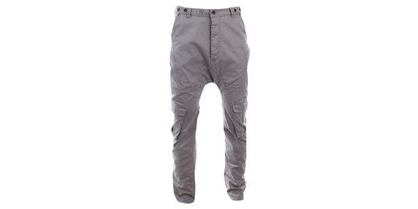 Pánské šedé kalhoty s kapsami Timeout