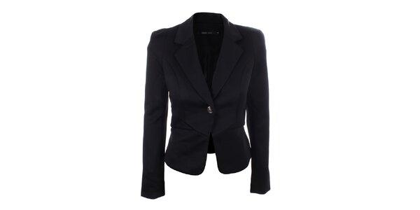 Dámské černé sako s krajkou Dislay DY Design