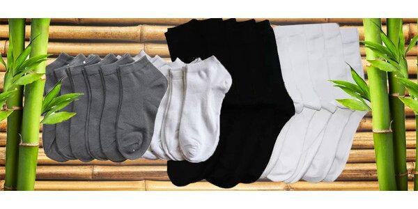 16 párů nebo 10 párů bambusových ponožek