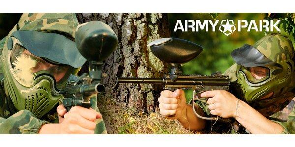 4 hodiny venkovního paintballu v Army Parku Ořechov