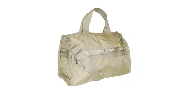 Béžová víkendová taška LeSportsac