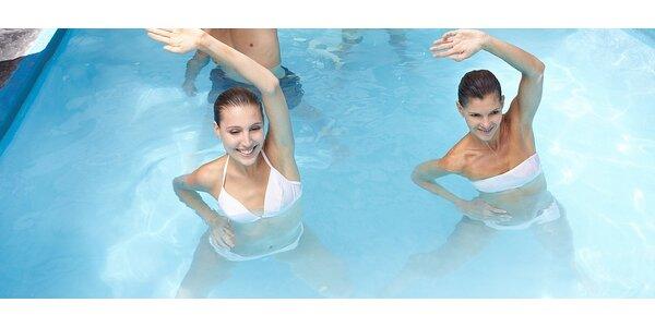 Prima cvičení ve vodě - AQUA AEROBIC - permanentka na 5 lekcí