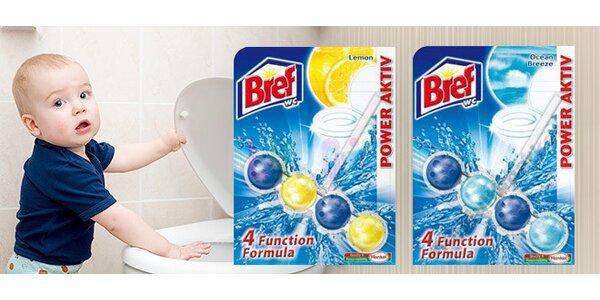 Sada barevných WC kuliček Bref Power Aktiv