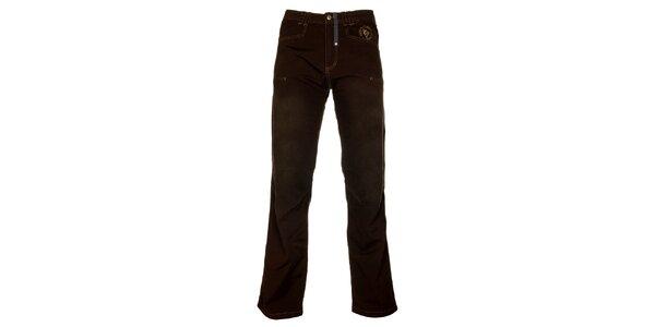 Pánské tmavě hnědé kalhoty Hannah