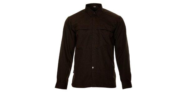 Pánská tmavě hnědá košile Hannah