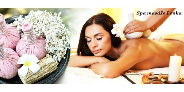 Terapeutická thajská masáž bylinnými měšci