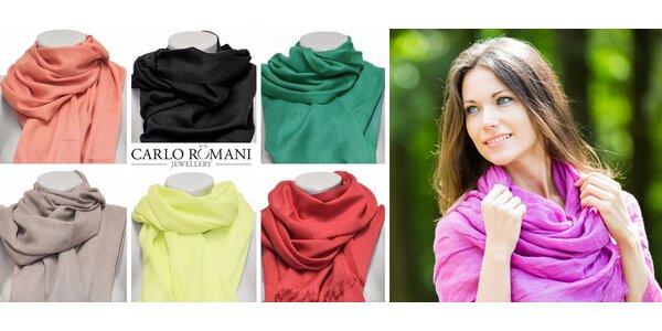 Jarní šátky Carlo Romani – 28 barev na výběr!