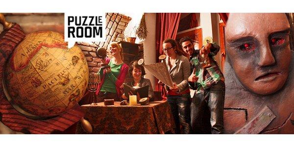 Exit Game Puzzle Room pro tým hráčů. Zabavte se, unikněte!