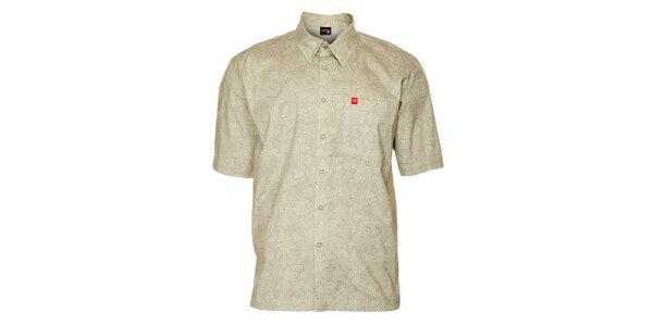 Pánská světle šedá vzorovaná košile Hannah