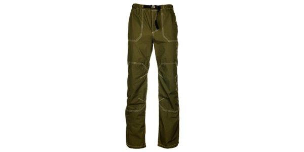 Pánské olivově zelené kalhoty Hannah