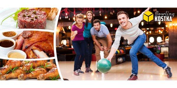 Až 2 hodiny bowlingu + občerstvení a k tomu masová hostina