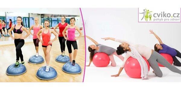 2 lekce bosu, pilates, fitballu, cvičení rodičů s dětmi či různých druhů…