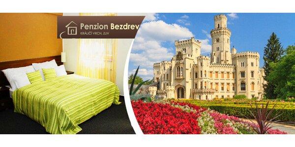 4denní velikonoční balíček pro 2 osoby v Penzionu Bezdrev, Hluboká nad Vltavou