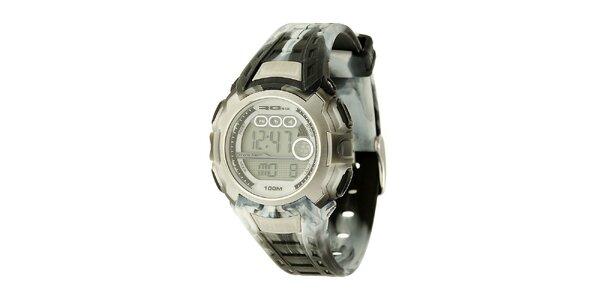 Unisexové šedé digitální hodinky RG512