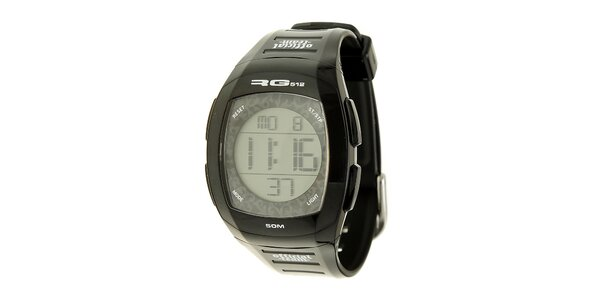 Unisexové černé digitální hodinky RG512